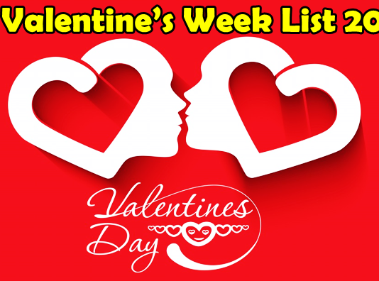 valentine week days list 2018 valentine day 2018
