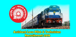 assistant loco pilot and technician recruitment 2018