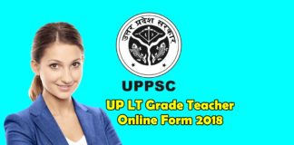 UP LT Grade Teacher Online Form 2018