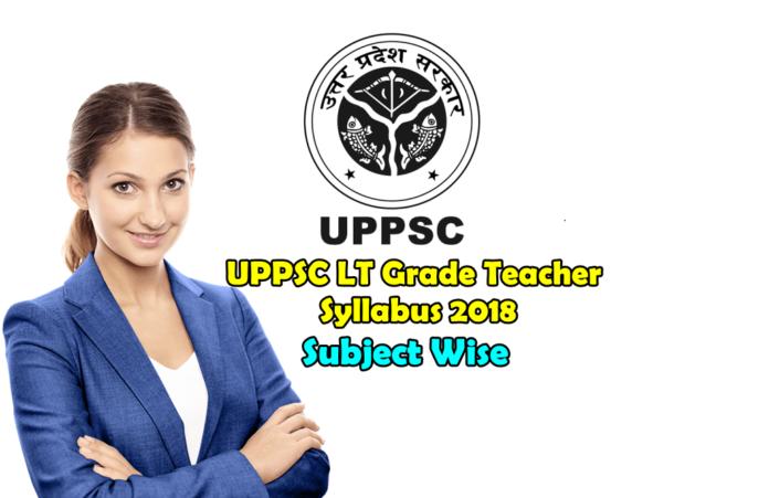 UPPSC LT Grade Teacher Syllabus 2018