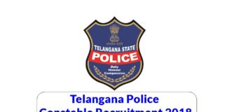 telangana police constable recruitment 2018