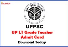 UP LT Grade Teacher Admit Card download Today